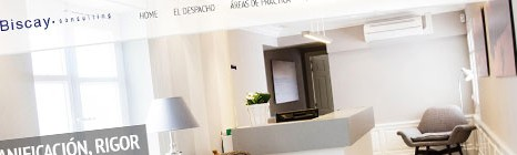 Diseño web de Biscay Consulting