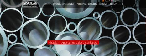 Diseño Web de Graolan – Representante industrial siderúrgico